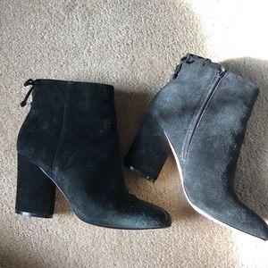Saks Fifth Avenue black booties